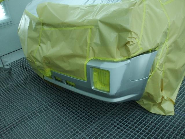 キャデラック/SRX 車の修理事例No.1223 修理内容で見る 小さなキズ・ヘコミ フロントバンパー修正-車修理の ...